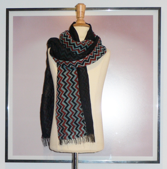 past collections-scarves  black zag