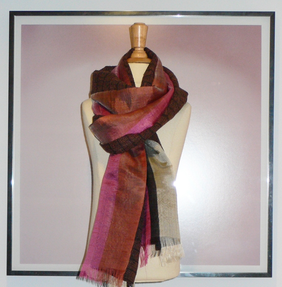 past collections-scarves  ruby brown