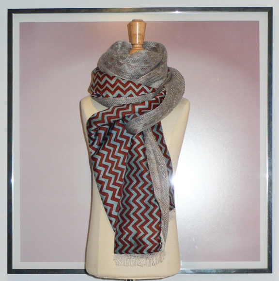 past collections-scarves  slate sky