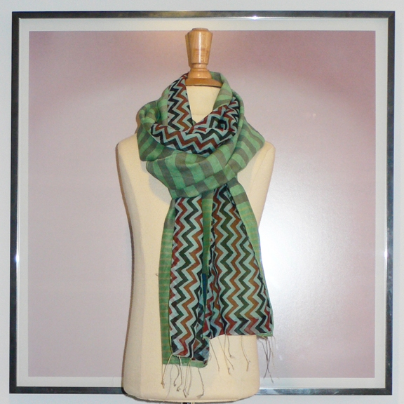 past collections-scarves  zip zag