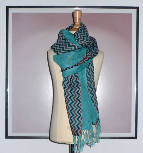 past collections-scarves  turquoise d'lite