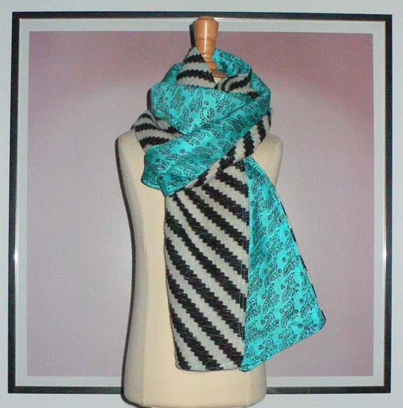 past collections-scarves  bird stripes
