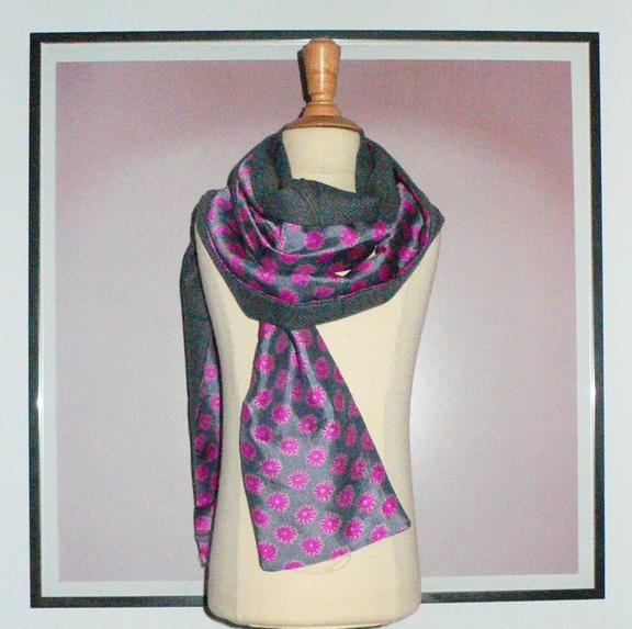 past collections-scarves  camel floral