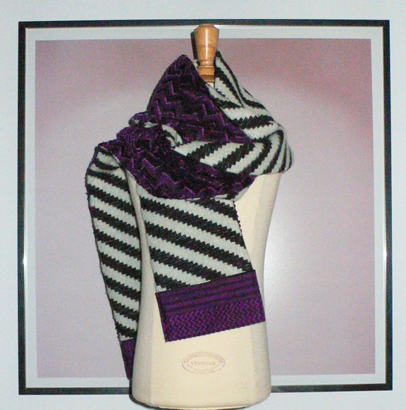 past collections-scarves  zig stripe