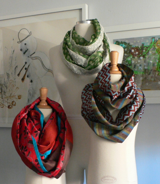 past collections-scarves  le loop Holiday collection