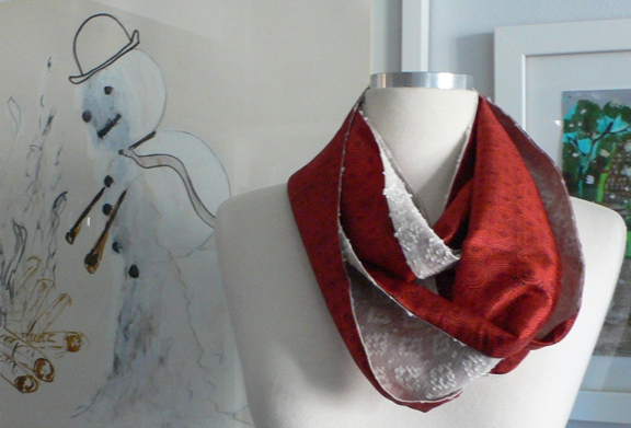 past collections-scarves  le loop geometrique