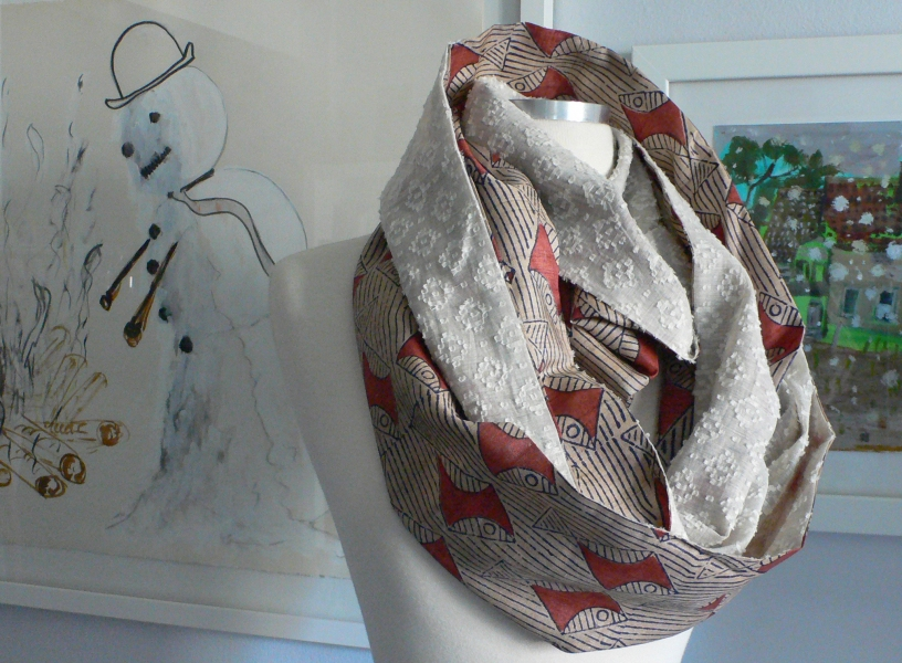 past collections-scarves  le loop poissons