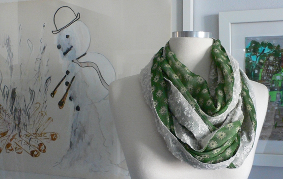 past collections-scarves  le loop vert