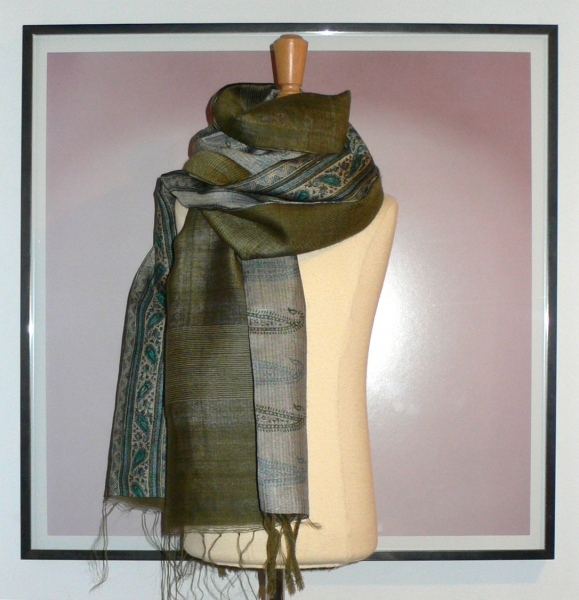 past collections-scarves  blazed grass