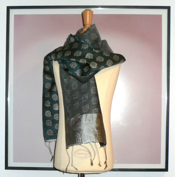 past collections-scarves  feather dust