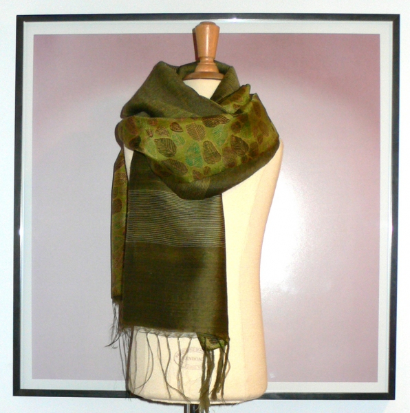 past collections-scarves  glorious green