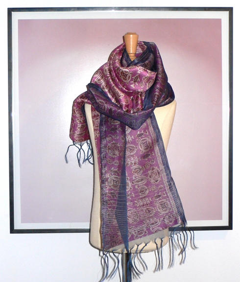 past collections-scarves  pink safflower