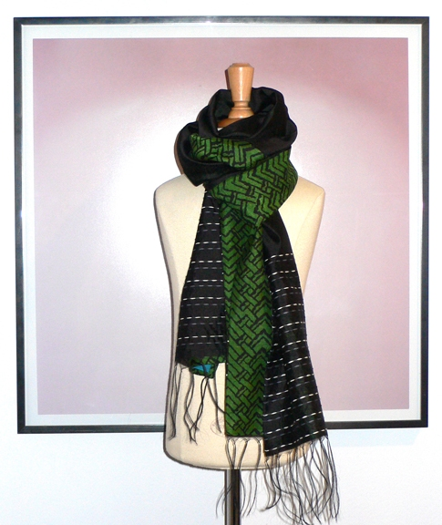 past collections-scarves  zig stripe zag