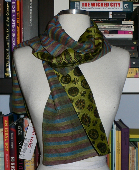 past collections-scarves  stripe & coin