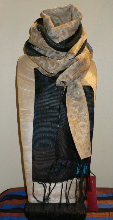 past collections-scarves  midnight gold