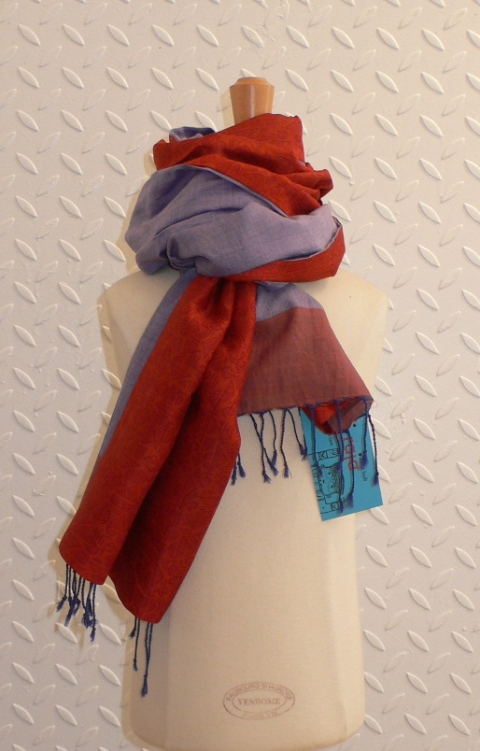 past collections-scarves  rusty rhubarb S