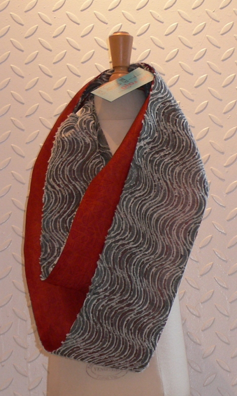 past collections-scarves  le loop rouille sur le clou $