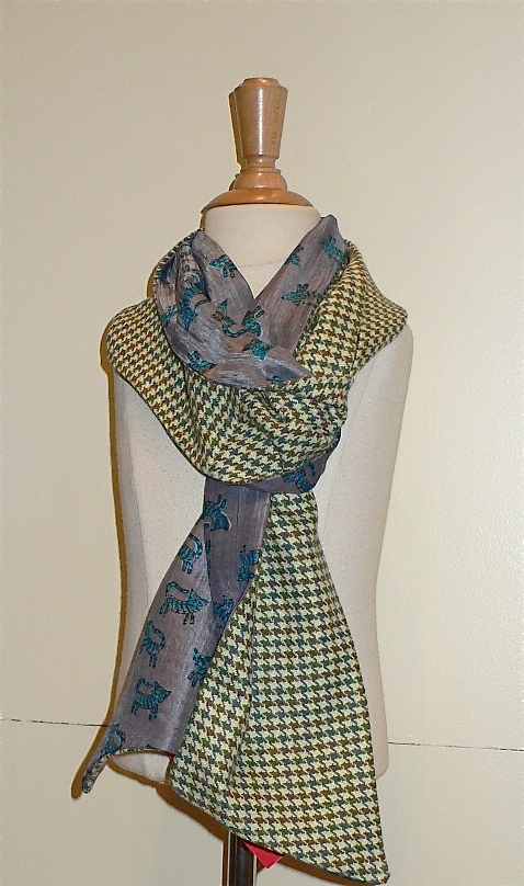 past collections-scarves  Grey Grant