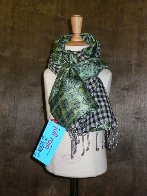 past collections-scarves  grid leaf grid
