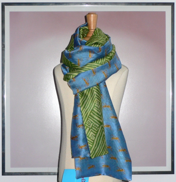 past collections-scarves  bright blue skies