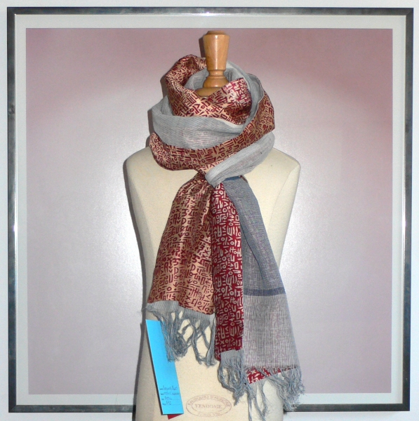 past collections-scarves  burgundy blues