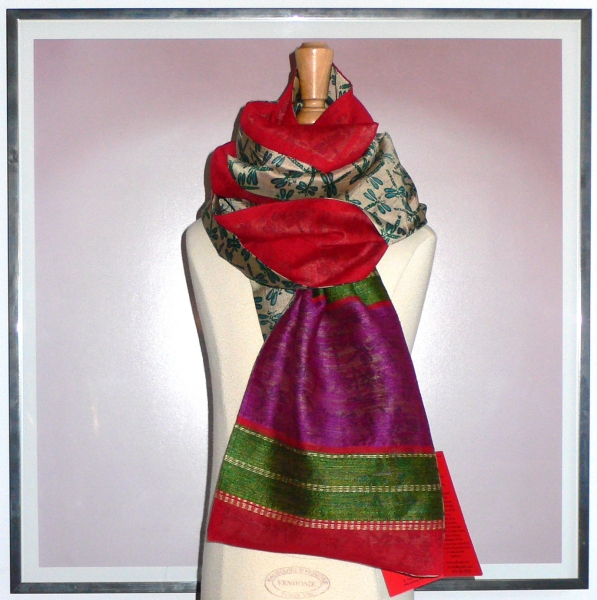 past collections-scarves  dragon mountain