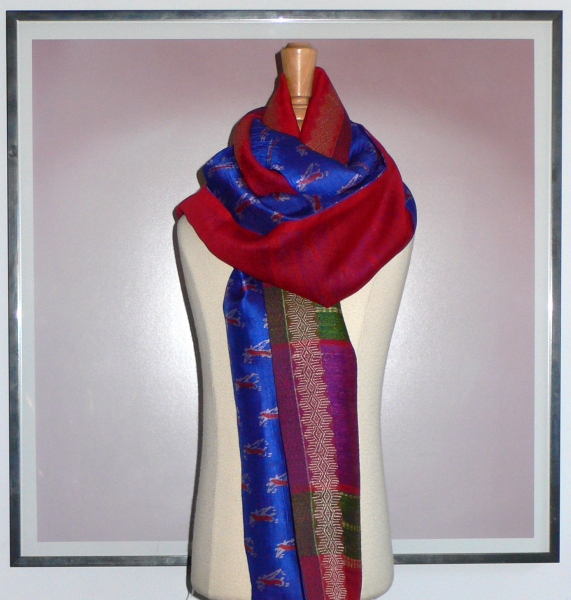 past collections-scarves  jet blue