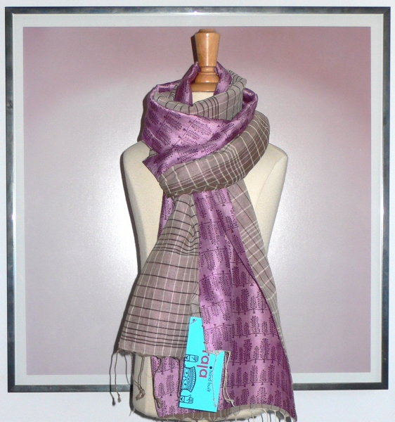 past collections-scarves  plum trees