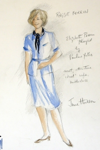 June Hudson Design Archive Pencil and watercolour on hot press watercolour paper