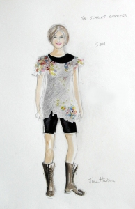 June Hudson Recent Designs Pencil crayon & gouache on hot press watercolour paper