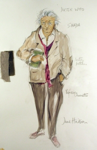 June Hudson Recent Designs Gouache and crayon on hot press watercolor paper