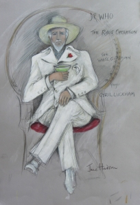 June Hudson Design Archive Pencil crayon & gouache on grey Ingres paper