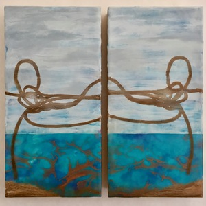 Jen Greely Encaustic Knot Series Encaustic and mixed media on cradled birch