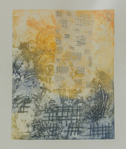 Jen Greely Works on Paper Encaustic Collagraph and Chine Colle on Rives BFK