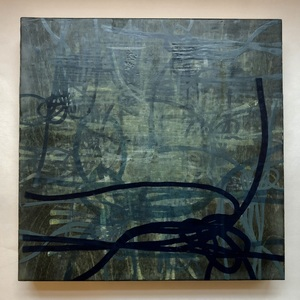 Jen Greely Encaustic Knot Series encaustic on cradled panel