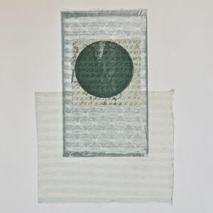 Jen Greely Loose Threads Print Series collagraph monoprint with etching and chine collè