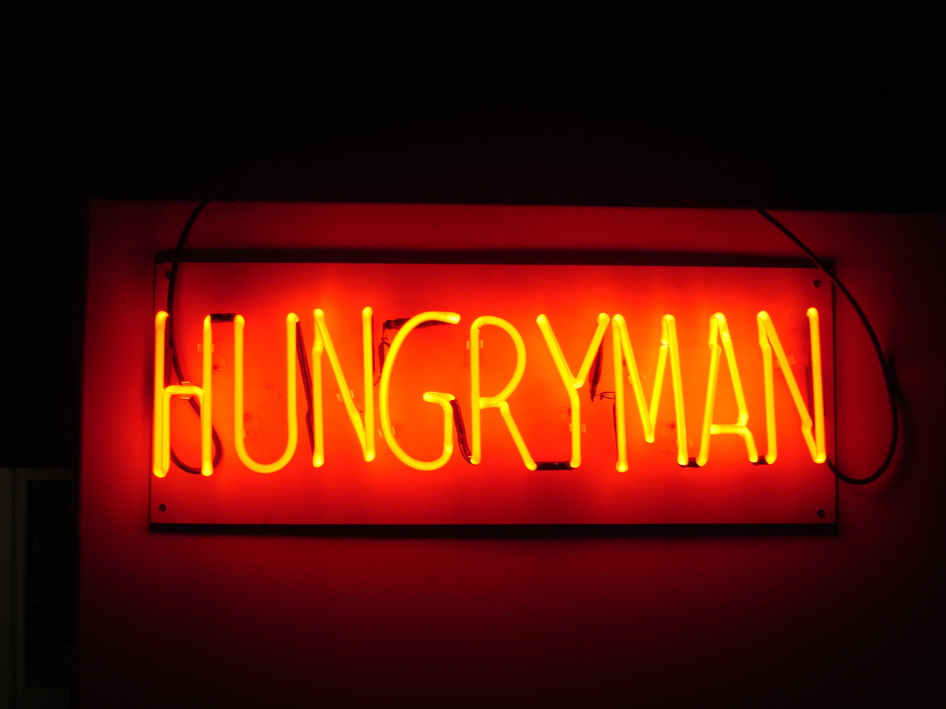 NEON Hungryman Gallery Sign, 2008