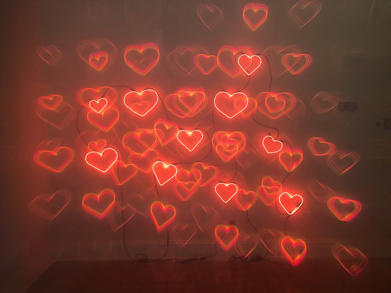 Hollow Boom Exhibition Neon Hearts in Diffraction