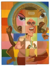 KANISHKA RAJA Selected Work 1990 - 2000 oil on canvas over 32 panels