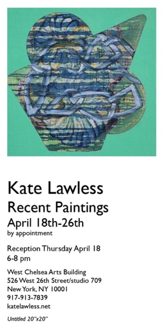 CRUSH Curatorial    Kate Lawless:  Recent Paintings