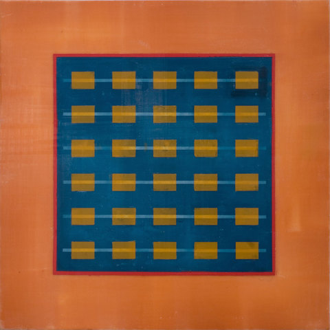 KAREN FREEDMAN Abacus encaustic on panel