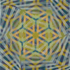 Kaleidoscoptical encaustic, archival print on panel