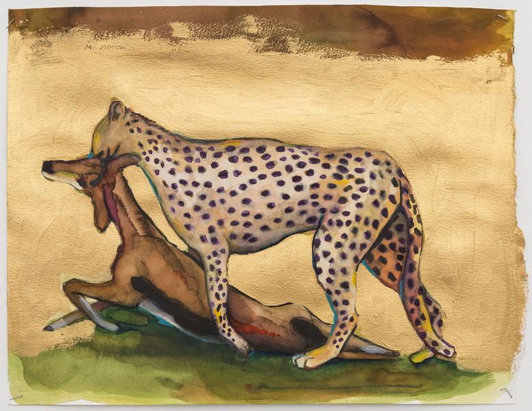 2017-2016 Untitled (jaguar and gazelle)