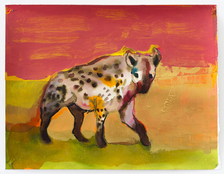 2017-2016 Untitled (hyena hunting) Pink