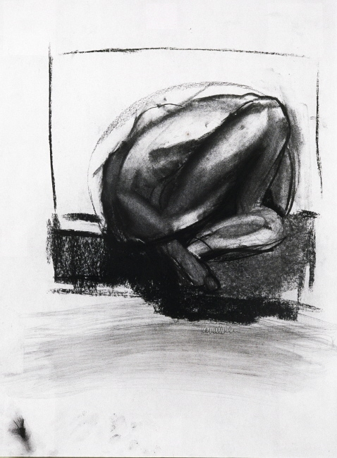 Karen Mahan  selected drawings charcoal on paper