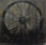 Karen Mahan  1998-2001  oil on canvas with charcoal