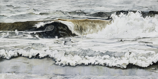 Karen Owsley Nease Wave Series oil on cradled wood panel