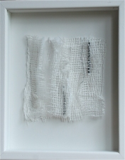 Karen V. Neems Grid Series netting, cotton, thread on foamcore