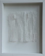 Karen V. Neems Grid Series  netting mounted on foamcore