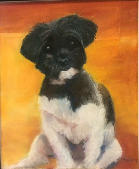 Karen Schlansky  Pet Portrait Paintings Pastel